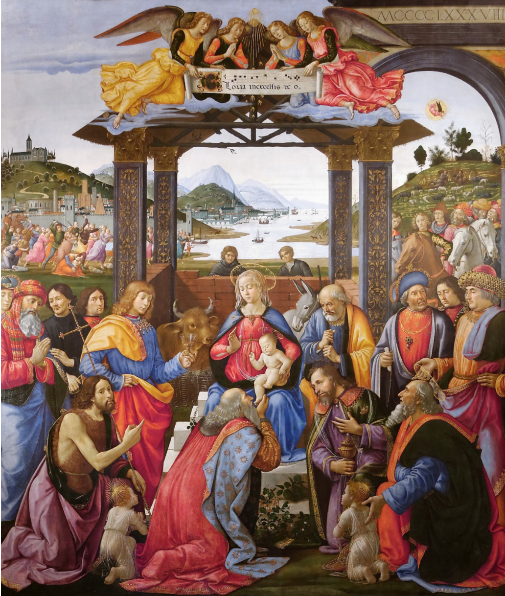 The Innocenti Adoration of the Magi, (1488-1489) - Ảnh wiki